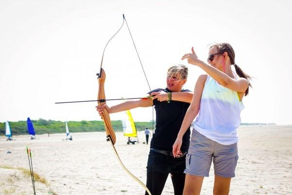 Strandsegeln und Bogenschiessen in den Niederlanden