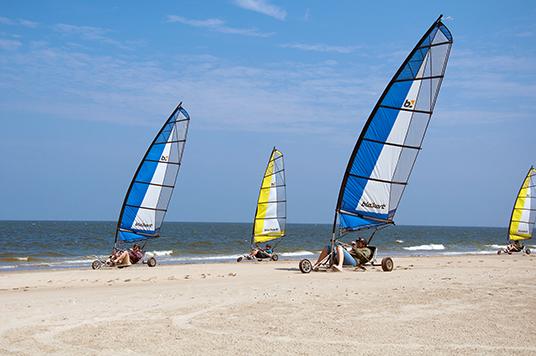 Strandsegel Regata mit Fotofinsih